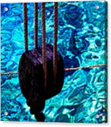 Anchor In Santorini Island Greece  Acrylic Print