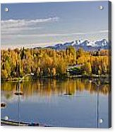 Anchorage And Westchester Pano Acrylic Print