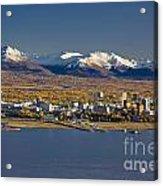 Anchorage Skyline And The Chugach Acrylic Print