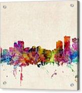 Anchorage Skyline Acrylic Print by Michael Tompsett