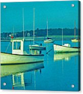 Anchored In Maine Acrylic Print