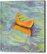 Anchored In The Shallows Acrylic Print