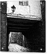 Ancient Alley In Tui Bw Acrylic Print