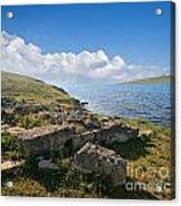 Ancient Archaeological Site On The Coast Of Crimea Ukraine Acrylic Print