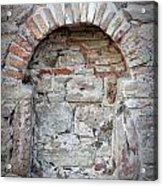 Ancient Bricked Up Window  Acrylic Print