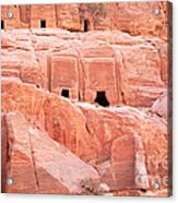 Ancient Buildings In Petra Acrylic Print