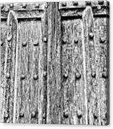 Ancient Church Door Acrylic Print
