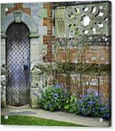 Ancient Door Acrylic Print by Lesley Rigg