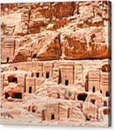 Ancient Dwellings At Petra Acrylic Print