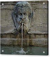 Ancient Fountain Acrylic Print