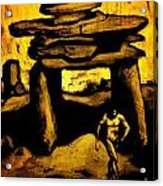 Ancient Grunge Acrylic Print by John Malone