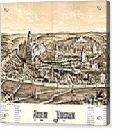 Ancient Jerusalem Map 65ad Acrylic Print