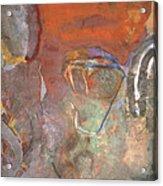 Ancient Orange Acrylic Print