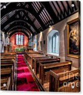 Ancient Welsh Church Acrylic Print by Adrian Evans
