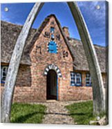 Ancient Whale's Jawbones Gate Acrylic Print