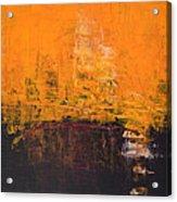 Ancient Wisdom Orange Brown Abstract By Chakramoon Acrylic Print