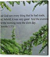 And God Saw Acrylic Print