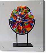 And The Wheel Goes Round And Round Acrylic Print by Mark Lubich