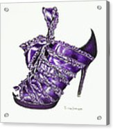 ...and Toes To Match - Purple Acrylic Print