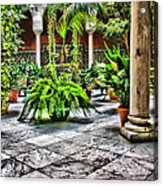 Andalusian Courtyard In Sevilla Spain Acrylic Print