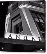 Andaz Hotel On 5th Avenue Acrylic Print