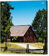 Anderson Valley Barn Acrylic Print
