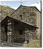 Andorra. Canillo. Church Of Sant Joan Acrylic Print