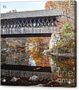 Andover Covered Bridge Acrylic Print