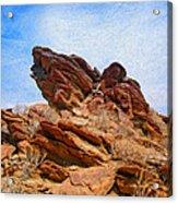 Andreas Canyon Acrylic Print