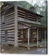 Andrew Logan Log Cabin Ninety Six National Historic Site Acrylic Print