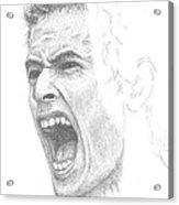Andy Murray Sketch Acrylic Print