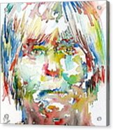 Andy Warhol Watercolor Portrait Acrylic Print