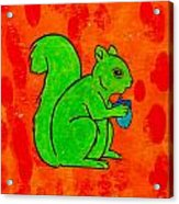Andy's Squirrel Green Acrylic Print