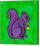 Andy's Squirrel Purple Acrylic Print