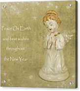 Angel Christmas Card Acrylic Print