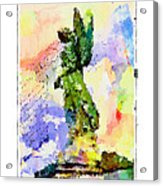 Angel Colors Acrylic Print
