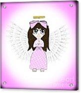 Angel In Pink Acrylic Print by Eva Thomas