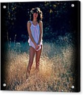 Angel In The Grasses Acrylic Print