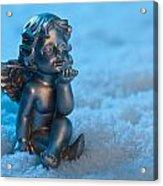 Angel In The Snow Acrylic Print