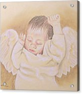 Angel Acrylic Print by Kathy Weidner