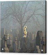 Angel Mist Cemetery Acrylic Print