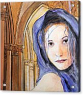 Angel Of Notre Dame Acrylic Print
