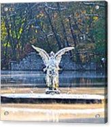 Angel On A Misty Lake  Acrylic Print