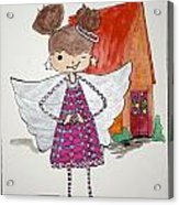 Angel Or- Acrylic Print by Mary Kay De Jesus