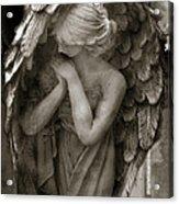 Angel Photography Spiritual Angel  - Guardian Angel In Prayer - Angel Praying  Acrylic Print