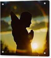 Angel Silhouette Acrylic Print
