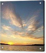 Angel Wing Sunset Acrylic Print