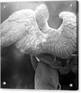Angel Wings - Dreamy Surreal Angel Wings Black And White Fine Art Photography Acrylic Print
