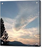 Angel Wings In Sky Clouds Acrylic Print