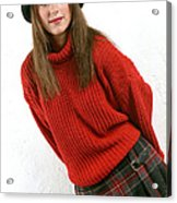 Angela Plaid Skirt Acrylic Print